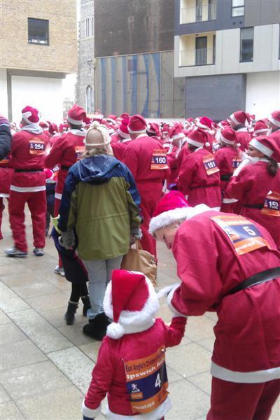 EACH fundraising Santa fun run Ipswich