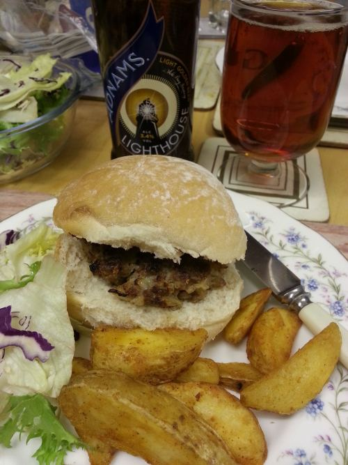economy mince made into appetising burger