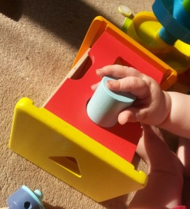 Wooden shape sorter with cylinder from Wonderworld