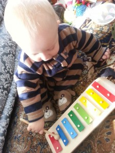 wooden xylophone toy from Plan
