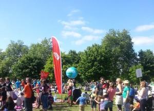 unicef globe at Big IF rally