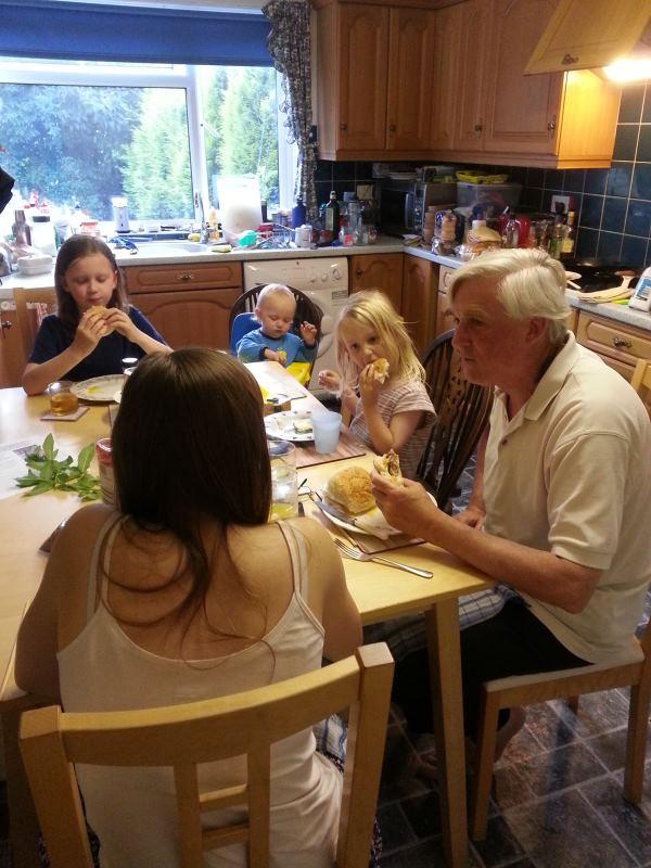 family feeding