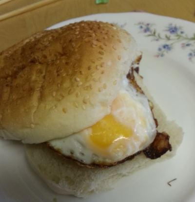 sausage and egg bap
