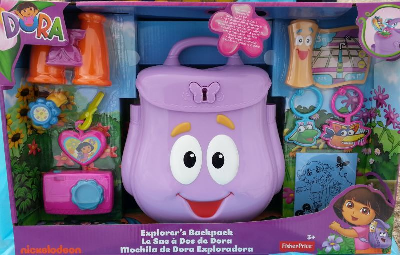 backpack in box