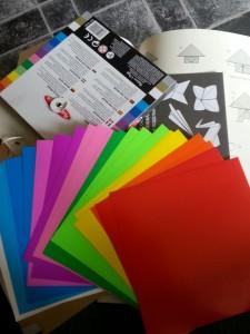 origami paper rainbow