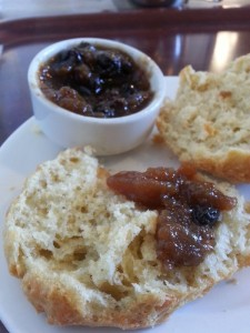 stilton and ale with local chutney