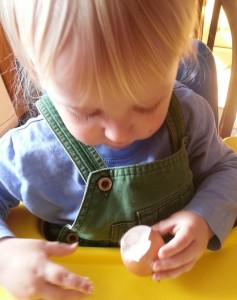 stuffing an egg