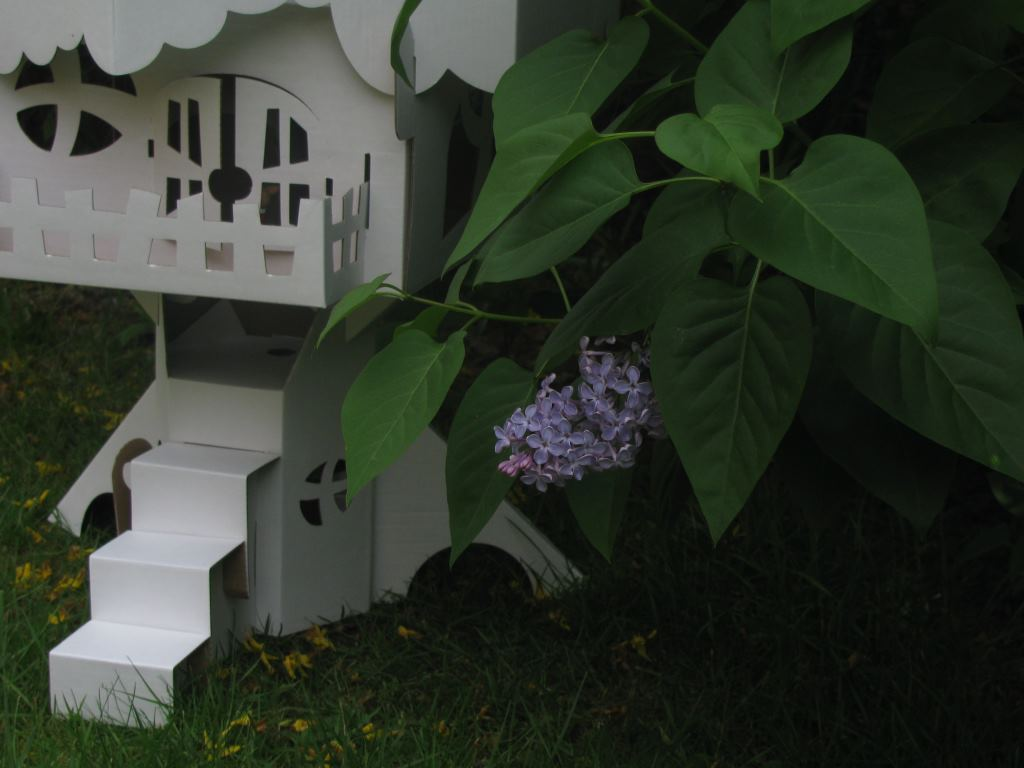 a fairy castle in the garden