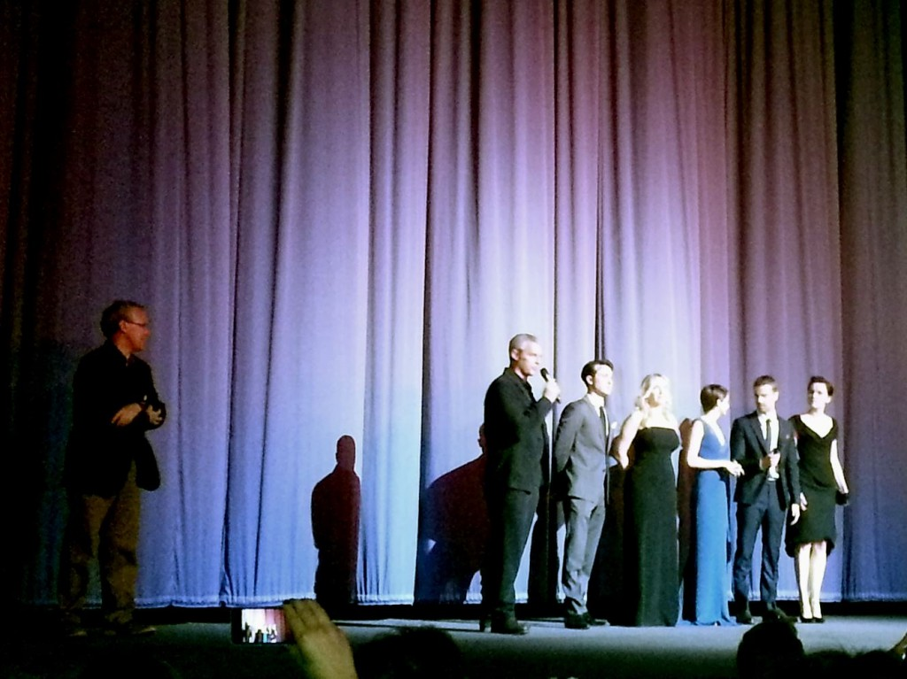 Shailene woodley, theo james, veronica roth, divergent premiere
