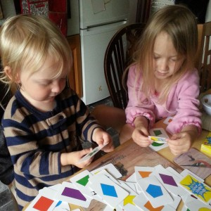 shape snap green board games