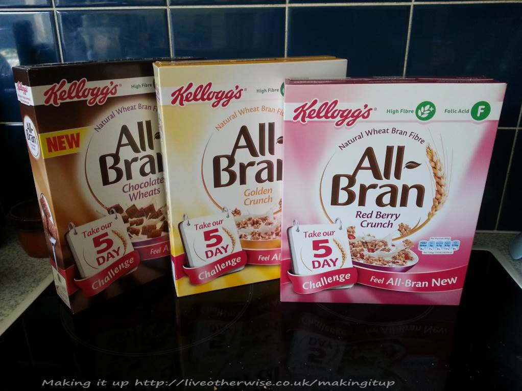 3 flavours of All-Bran