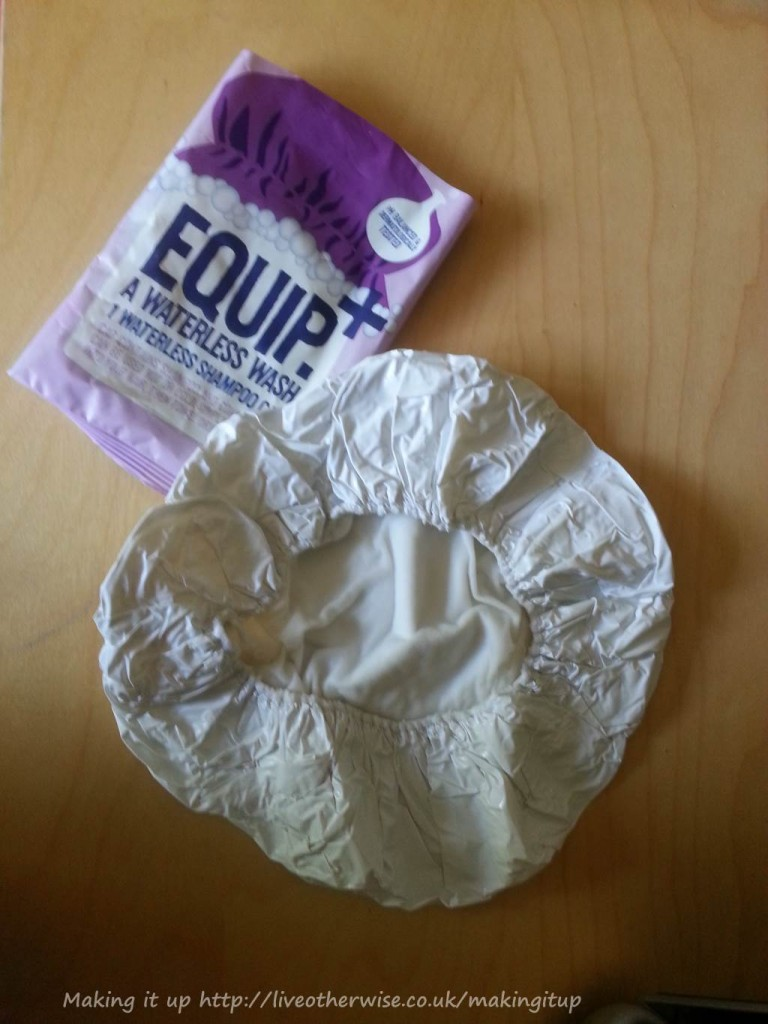 Equip+ waterless shampoo cap