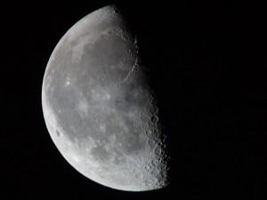 Half dark moon