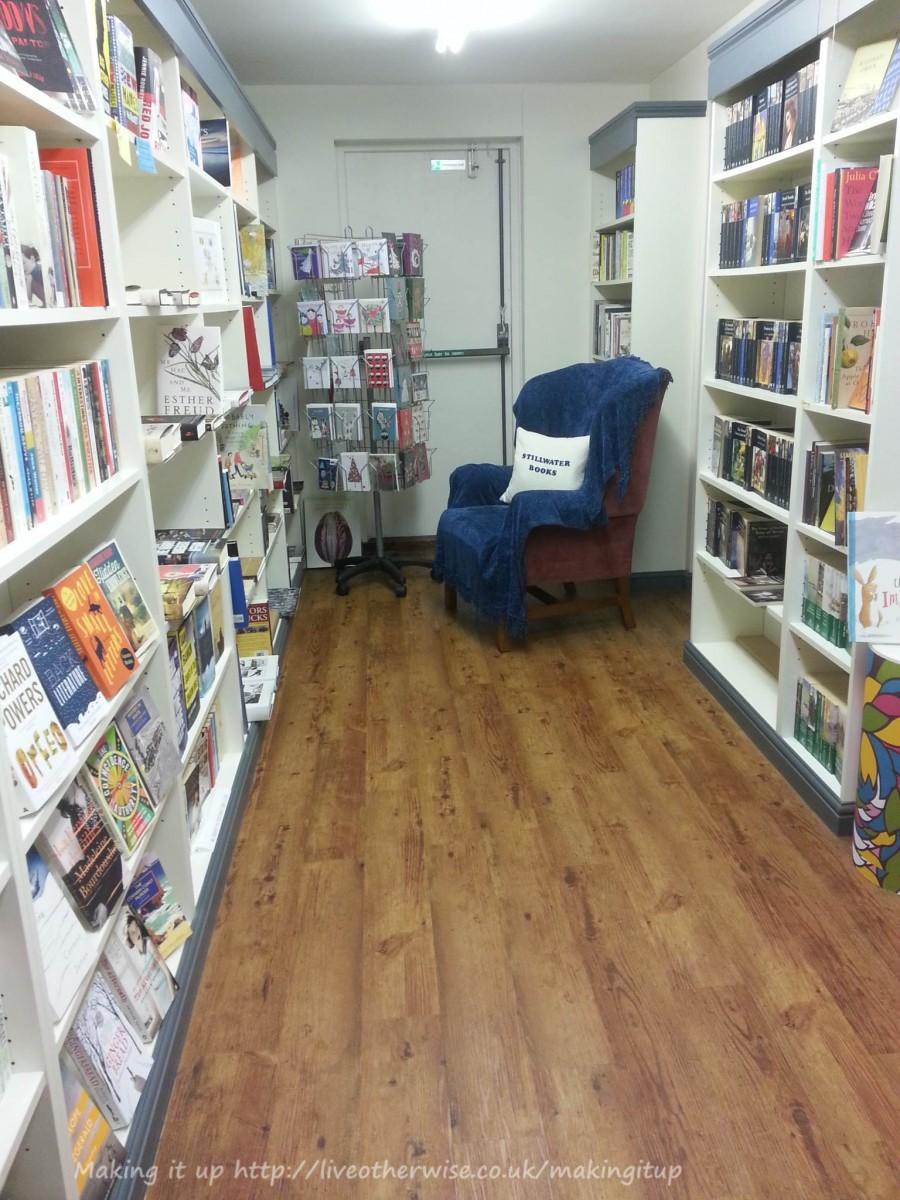 Stillwater books with chair