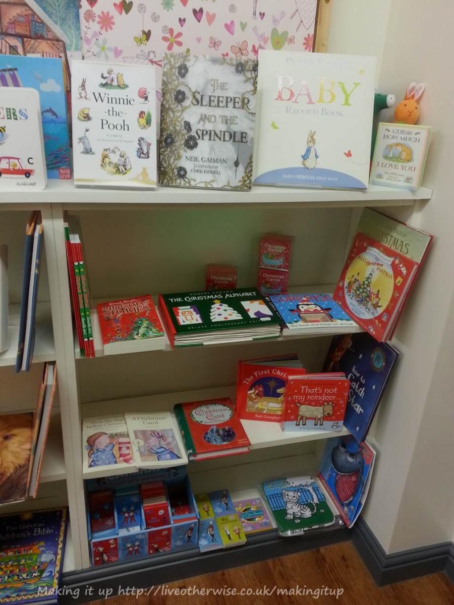 children's shelves at Stillwater books
