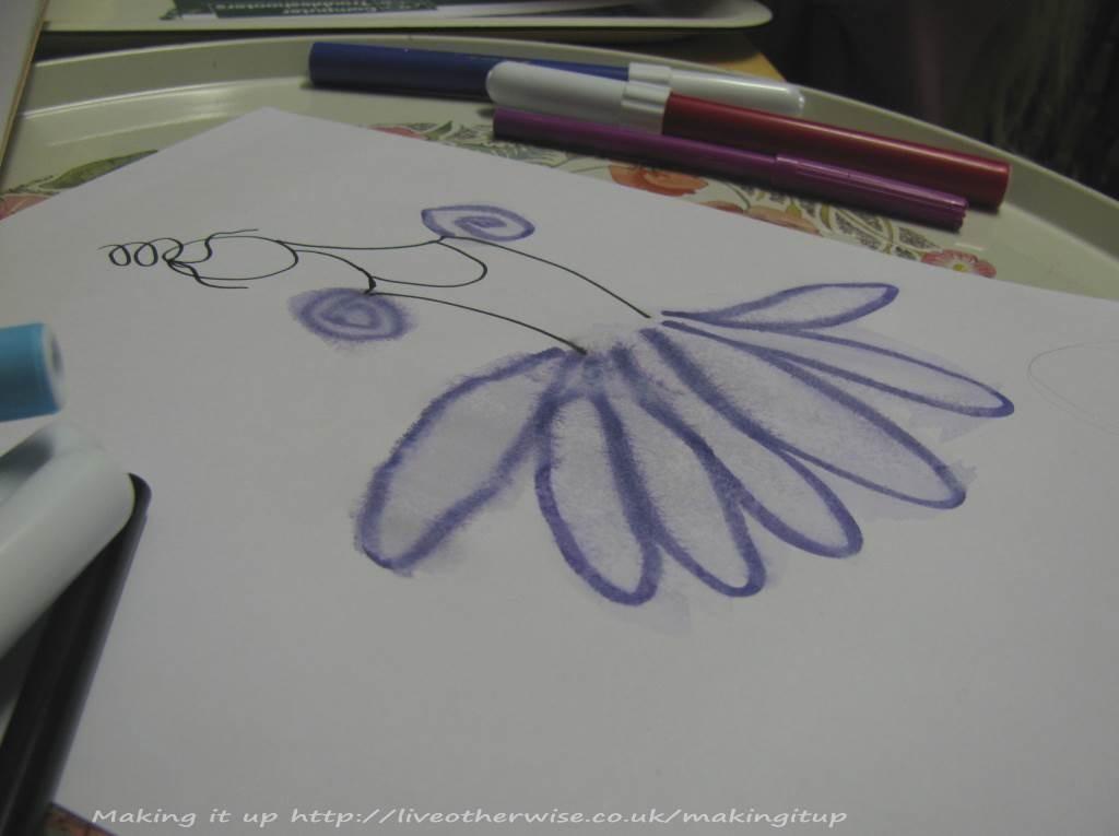 close up ballerina drawing
