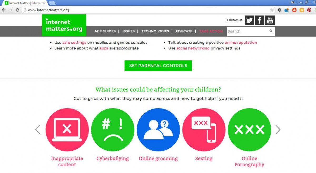 internet matters The uk's biggest internet providers have joined forces for the first time to found  child internet safety initiative internet matters bt, sky, talktalk.