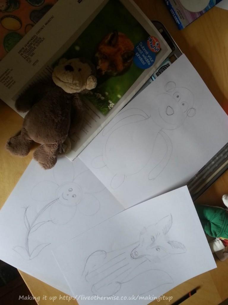 mascot design drawings