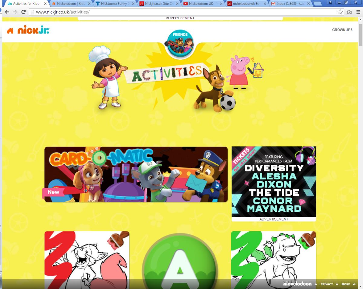 Win a goody bag with the updated Nickjr.co.uk website.
