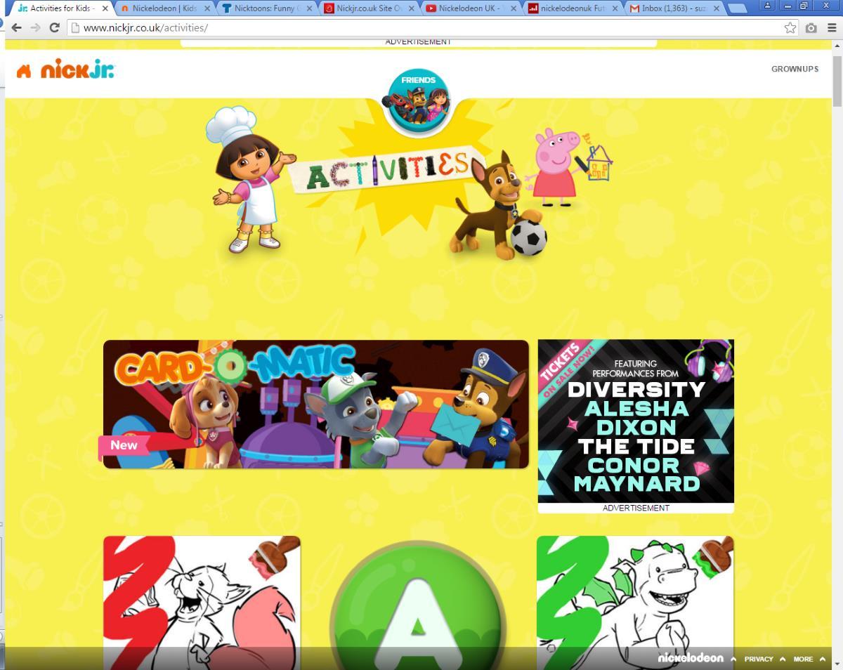 NickJr.co.uk Activities Hub