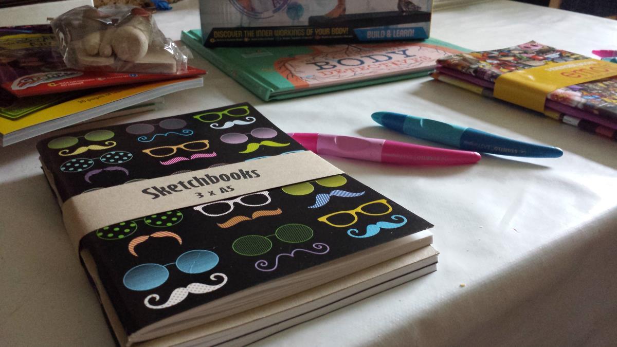 sketchbooks and left handed pens