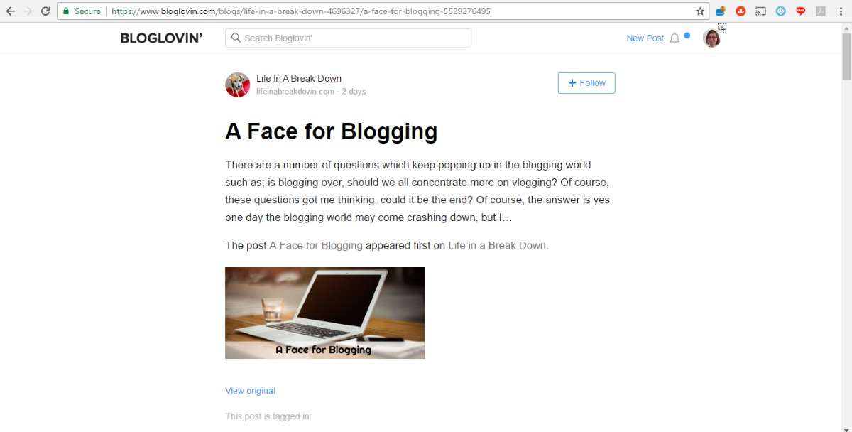 life in a breakdown face for blogging on bloglovin