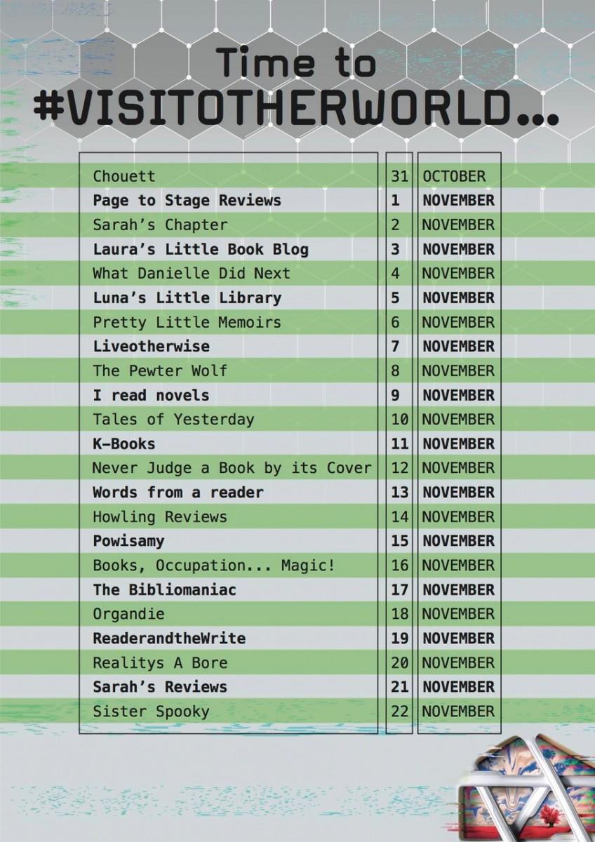 Banner listing stops on blogtour