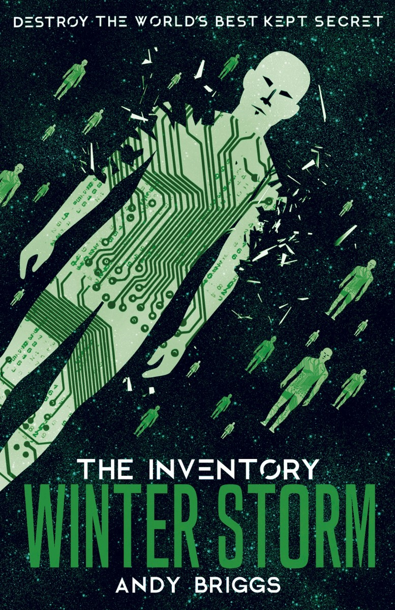 Book cover - Inventory 4 Winter Storm showing repeated stylised green figures with circuit board details