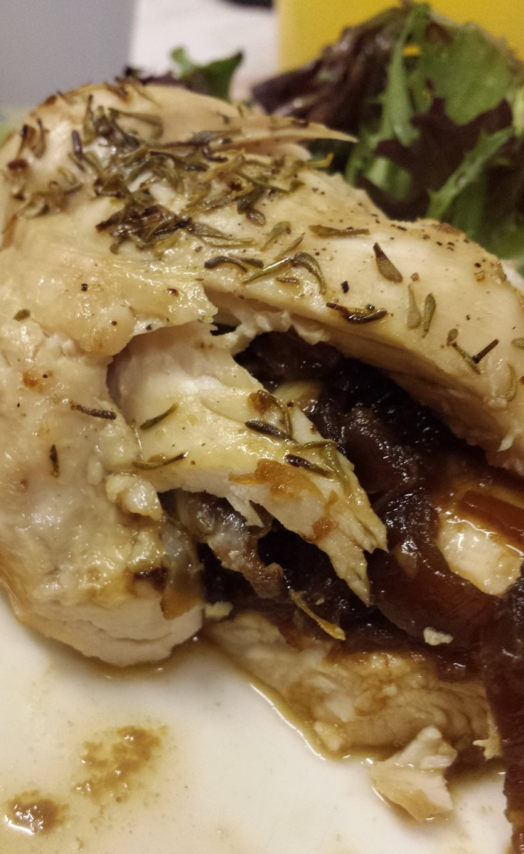 Stuffed roasted chicken breast